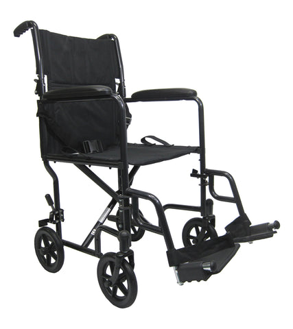 KARMAN - LT-2019-BK - TRANSPORT CHAIR - BLACK