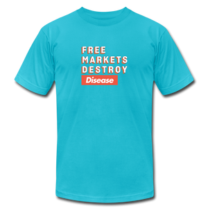 Free Markets Destroy: Disease - turquoise