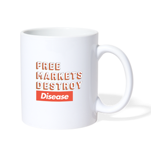Free Markets Destroy: Disease - white