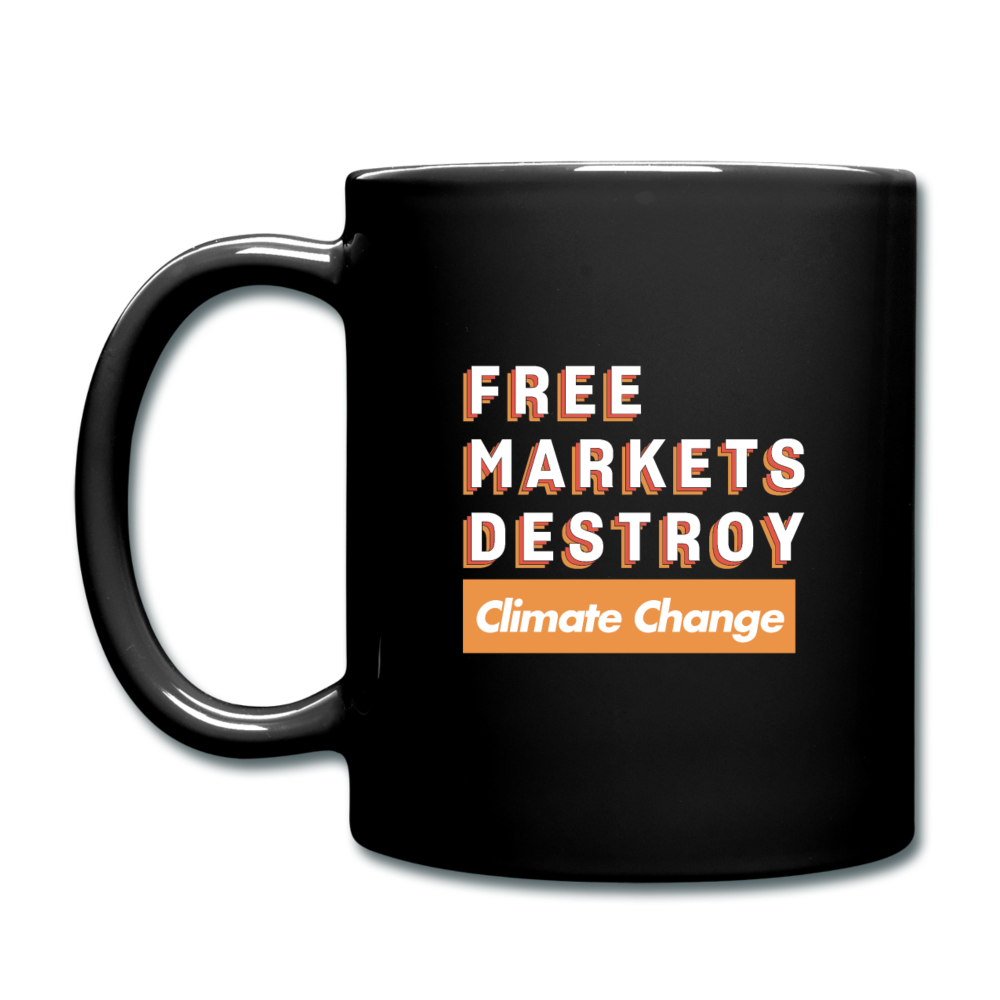 Free Markets Destroy: Climate Change - black