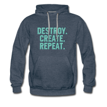 Load image into Gallery viewer, Destroy. Create. Repeat - heather denim