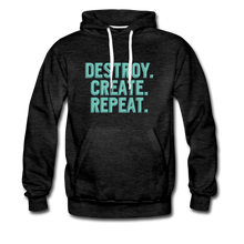 Load image into Gallery viewer, Destroy. Create. Repeat - charcoal gray