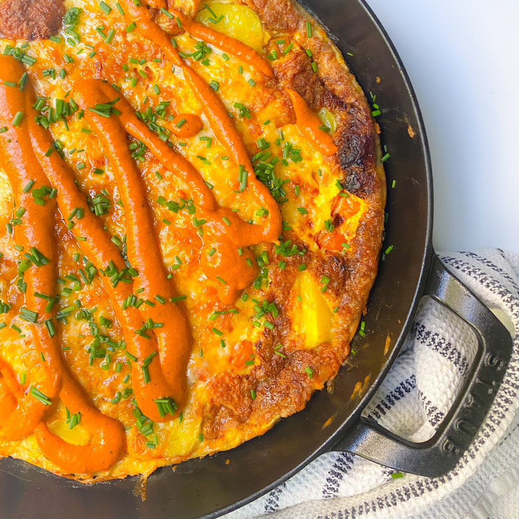 Red Pepper Romesco Frittata