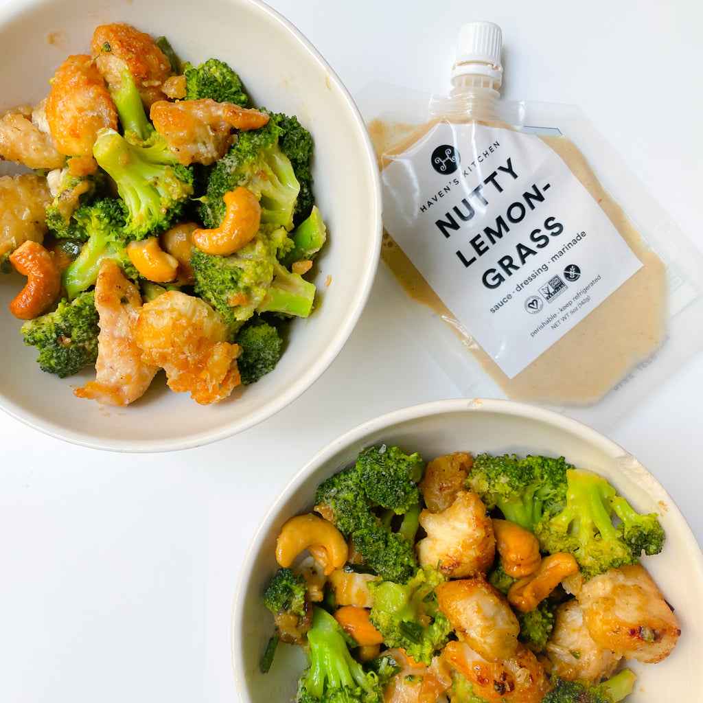 Nutty Chicken with Cashews and Broccoli