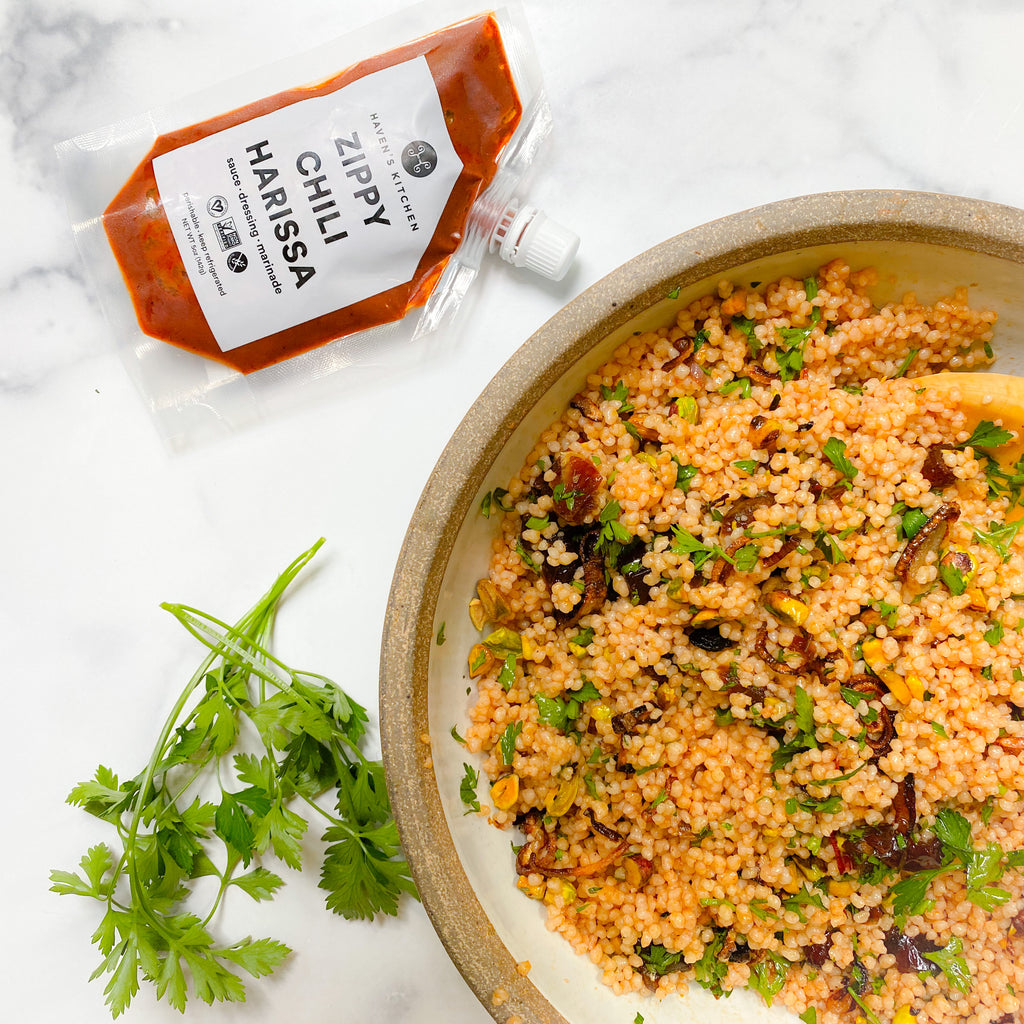 Sexy Couscous with Zippy Chili Harissa