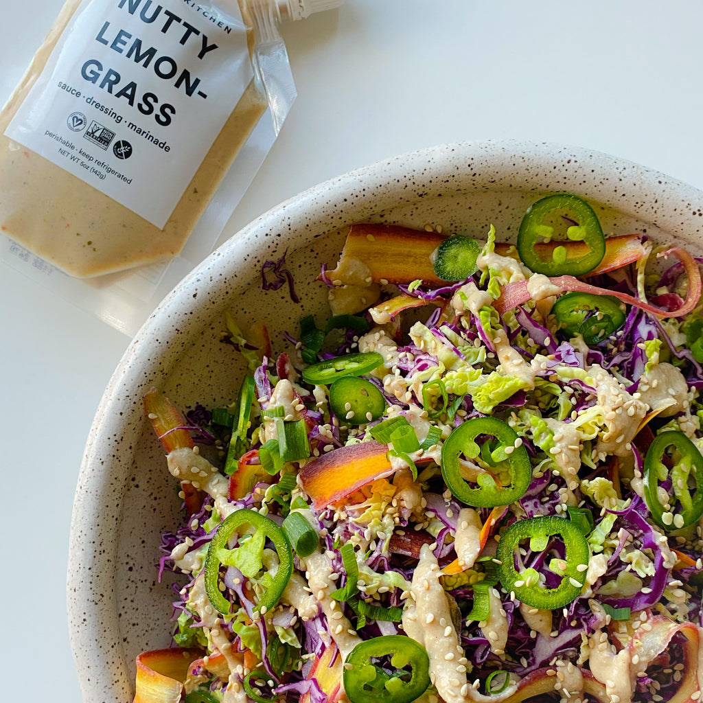 Nutty Lemongrass Cabbage Salad