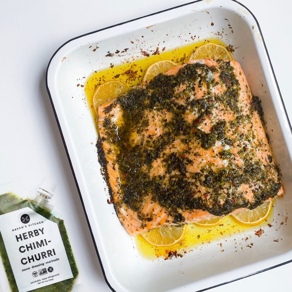 Chimichurri Slow Roasted Salmon