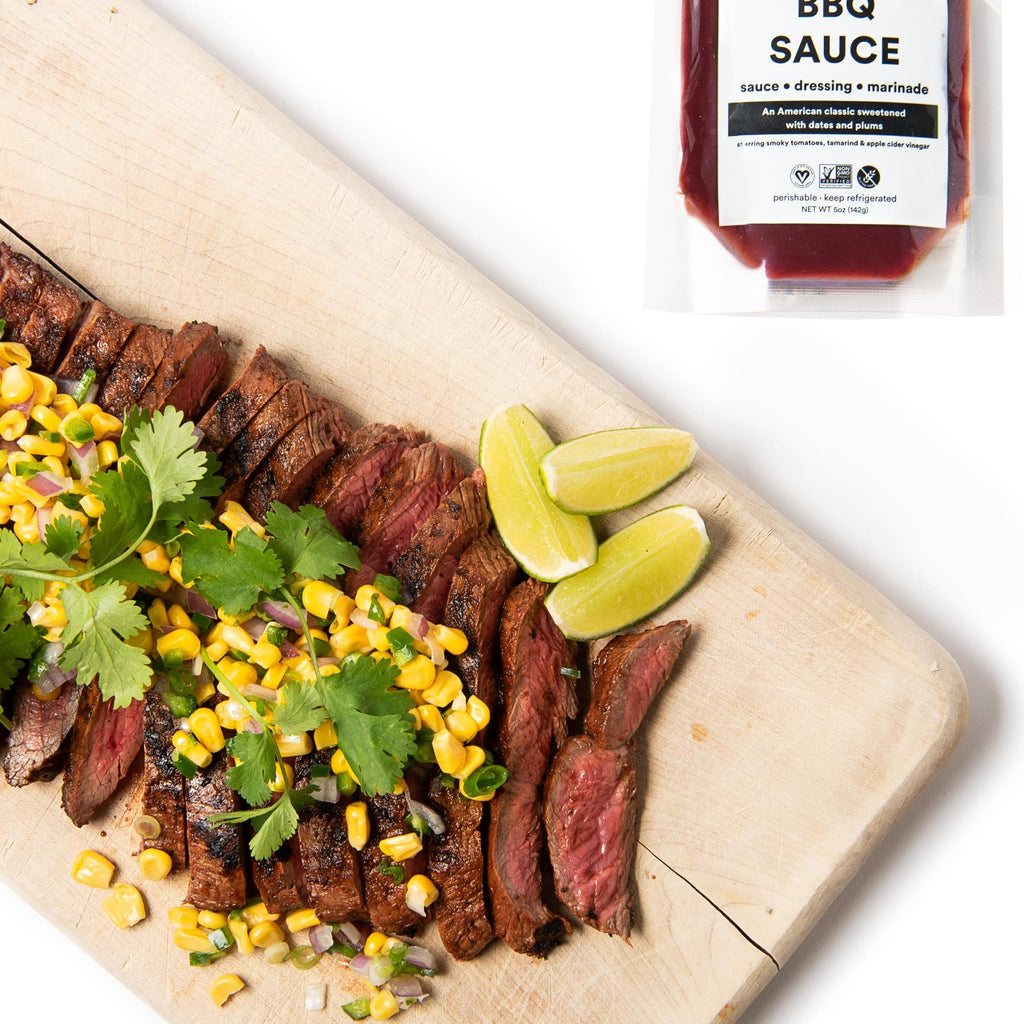 BBQ Flank Steak with Corn Salad