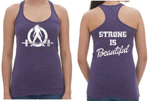 Purple Racerback Tank Tops - Strong Is Beautiful