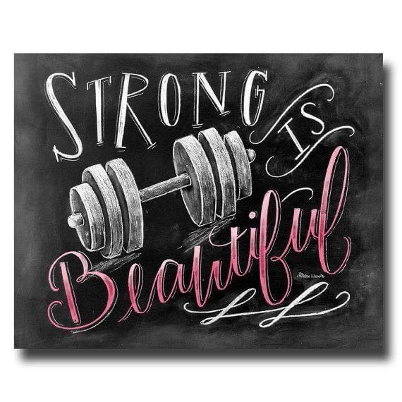 Strong Is Beautiful Sticker