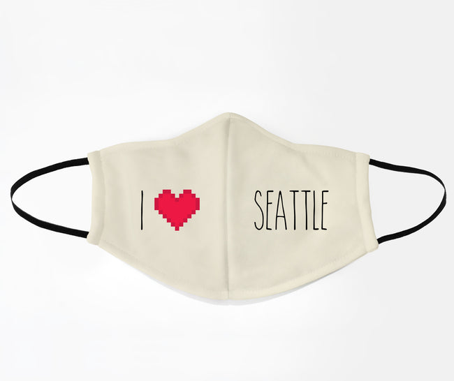 I Love Seattle Face Mask
