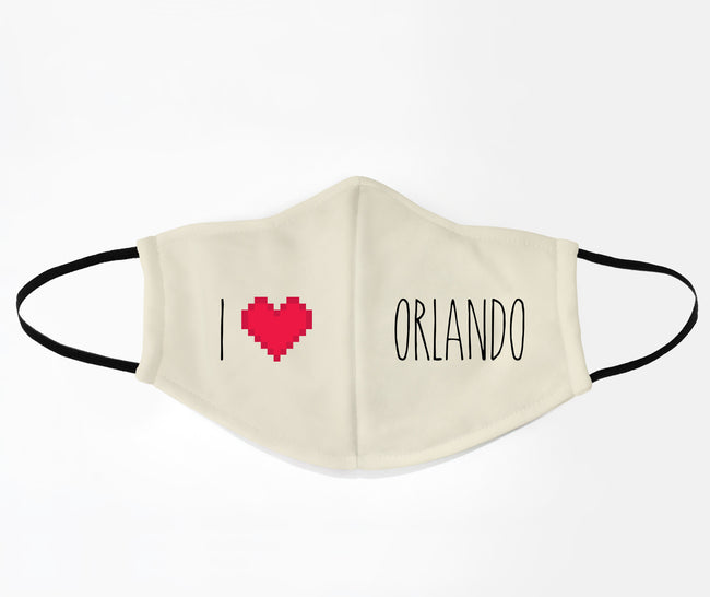 I Love Orlando Face Mask