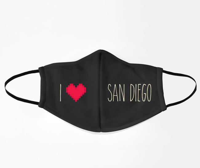 I Love San Diego Face Mask
