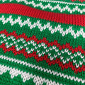 Real Sweater, Reindeer Funny Ugly Christmas Sweater [Green]