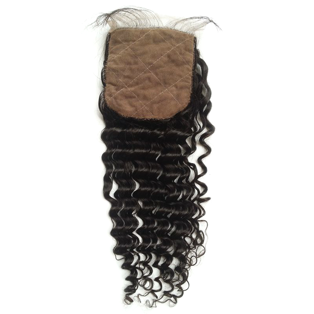 Brazilian Curly - Silk Base Closure - Silk-Base Closures - VIP Luxury Hair