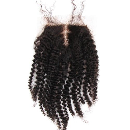 Brazilian Kinky Curl - Swiss Lace Closure - Lace Closures - VIP Luxury Hair