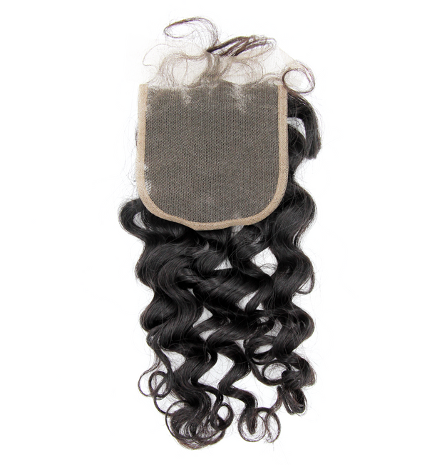 Peruvian Loose Curl - Swiss Lace Closure