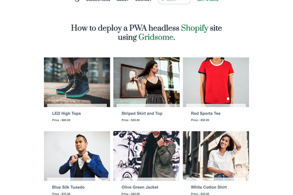 Tailwind Gridsome Shopify Starter