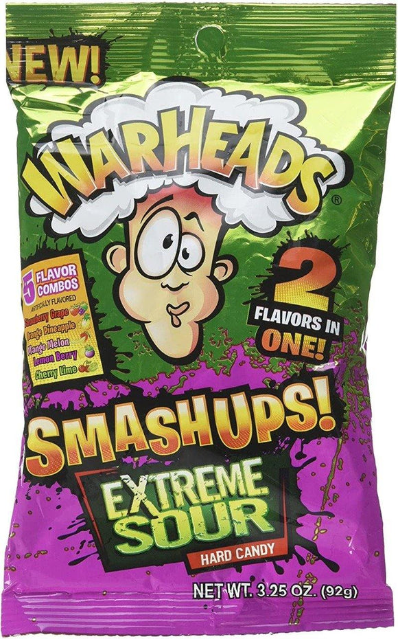 Warheads Smash Ups Extreme Sour Candy 92g