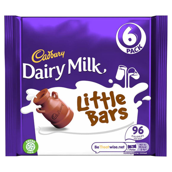 Cadbury Dairy Milk Little Bars (6 x 18g) - 4you Chocolates