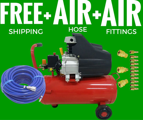 Air Compressor 2.5HP 50 Litre Tank plus hose and Fittings MEGA DEAL!