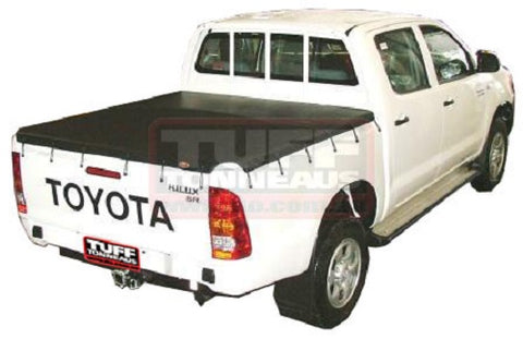 Toyota Hilux J Deck SR Dual Cab Aug 2005 to September 2015 Bunji Ute Tonneau Cover (Hooks)