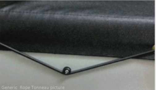 Toyota Hilux Dual Cab October 2015 to Current J Deck Rope Tonneau Cover
