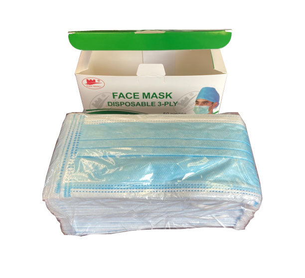 3-Ply Disposable Face Masks - ASTM Level 3 (Box of 50)
