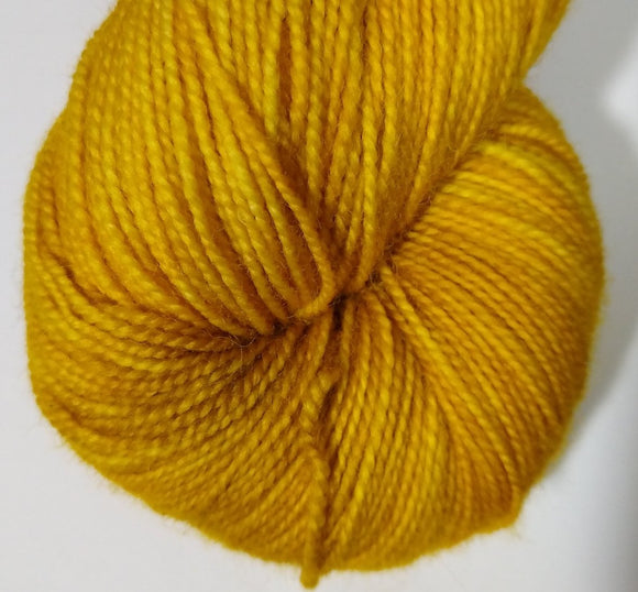 Rumpelstiltskin hand dyed 100% superwash Blue Faced Leicester high twist fingering/4ply/sock yarn