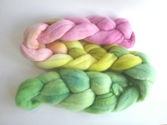 Refreshers Merino combed tops for spinning or felting