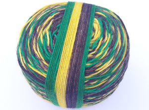 Jamaica self striping hand dyed superwash merino/nylon fingering/4ply/sock yarn