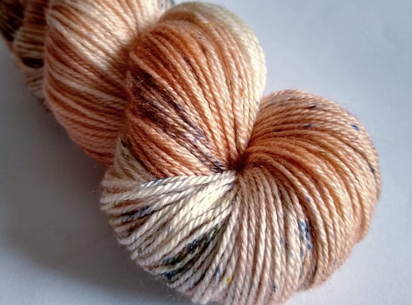 Porcelain Luxury Owl hand dyed Blue Faced Leicester/Silk/Cashmere fingering/4ply/sock yarn