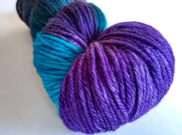 Fading Into Darkness hand dyed 100% merino DK weight yarn