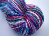 Guiding Light Luxury Owl hand dyed Blue Faced Leicester/Silk/Cashmere fingering/4ply/sock yarn