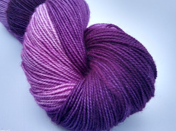 PREORDER Knitting with Friends hand dyed 100% superwash Blue Faced Leicester high twist fingering/4ply/sock yarn