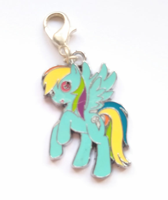 MLP Blue Pony progress keeper/stitch marker