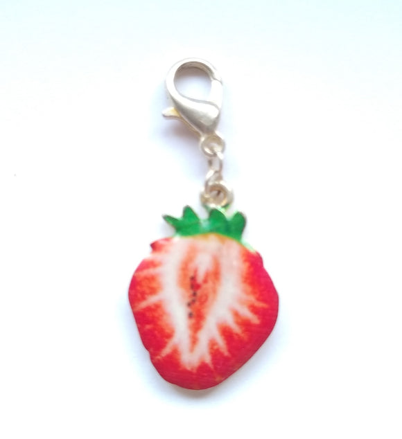 Strawberry progress keeper/stitch marker