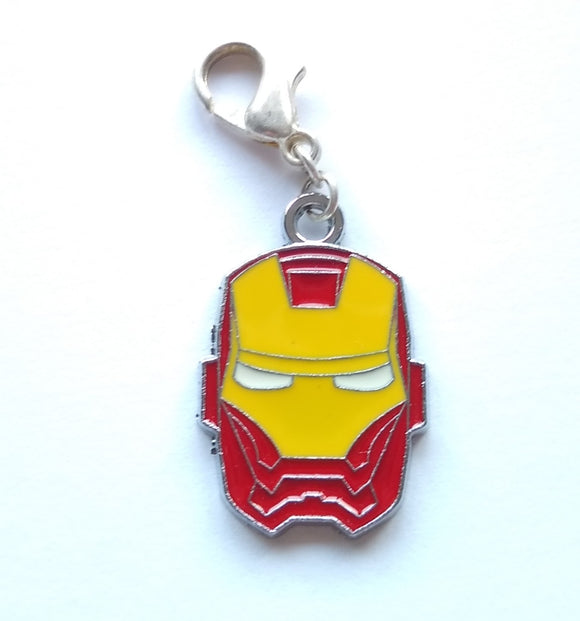 Iron Man Mask progress keeper/stitch marker