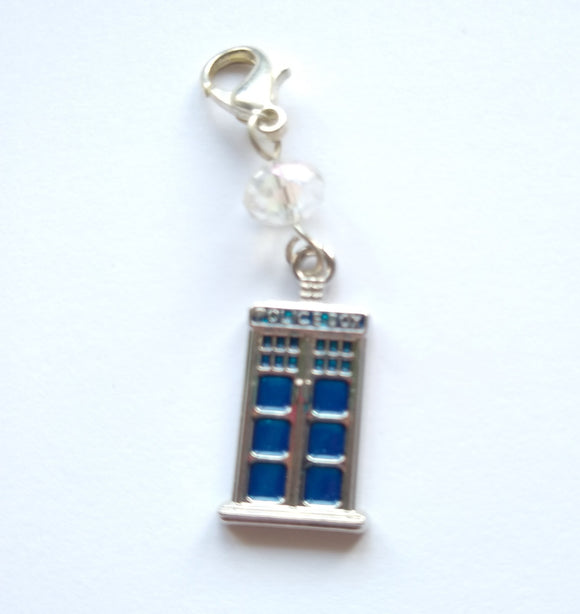Police Box progress keeper/stitch marker