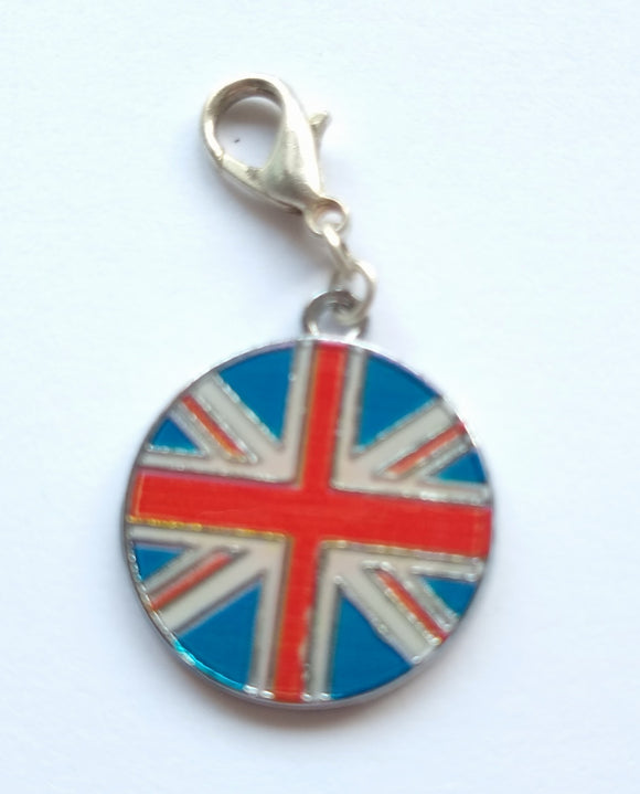 Circle Union Flag progress keeper/stitch marker