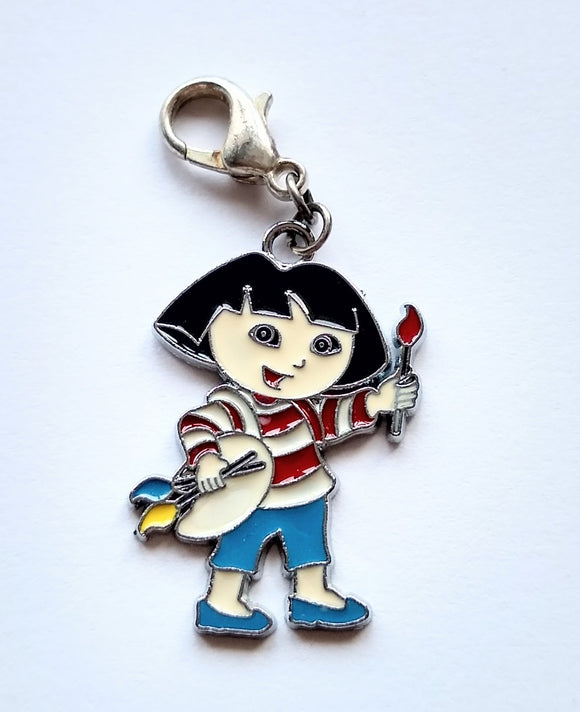 Dora the Explorer logo progress keeper/stitch marker