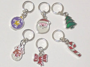 Christmas themed stitch markers (set of 6)