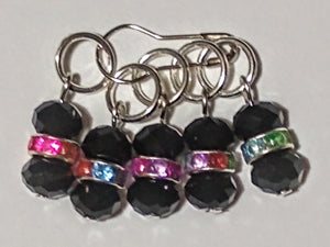 Beaded ball of yarn inspired stitch markers (set of 5)