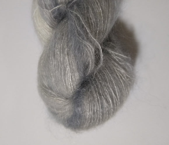 Silver Hand dyed kidsilk laceweight yarn