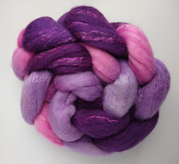 Knitting with Friends hand dyed fibre for spinning/felting