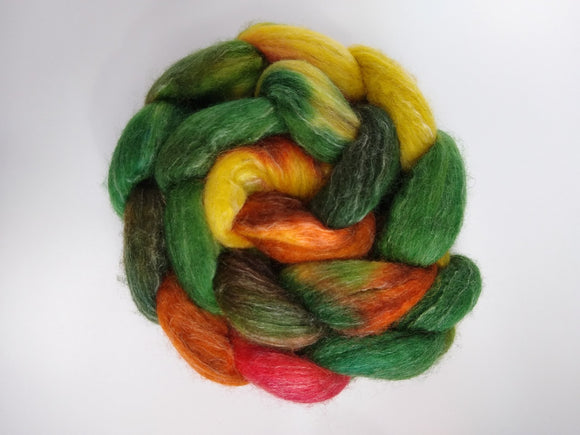 Turning Leaves hand dyed fibre for spinning/felting