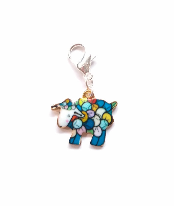 Colourful Sheep progress keeper/stitch marker