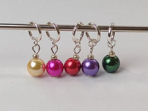 Christmas bauble stitch markers (benefitting Marie Curie hospices)