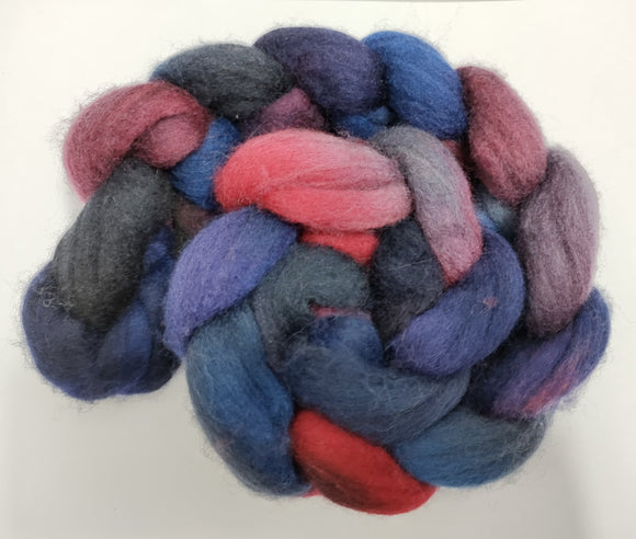 Dystopia hand dyed Polwarth fibre for spinning/felting
