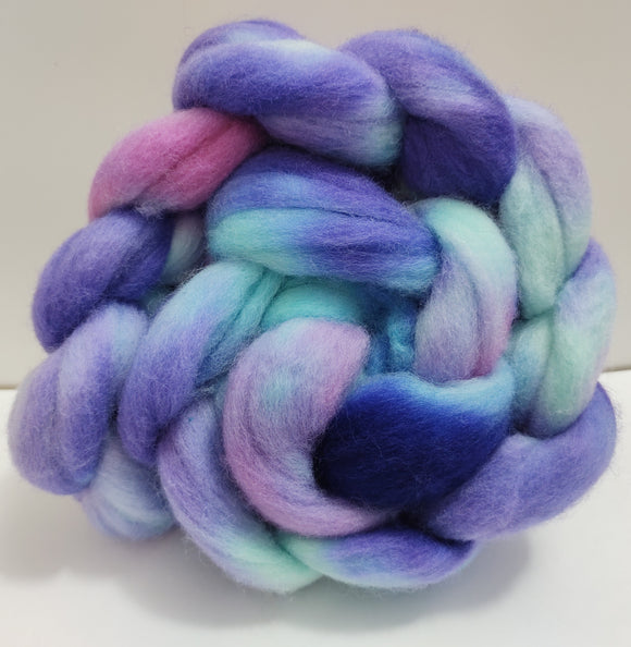 Unicorn Fantasy hand dyed Polwarth fibre for spinning/felting